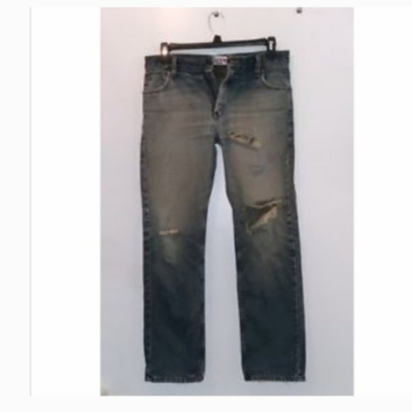 Mens Levis Jeans Distressed 30 x 32 Ripped Style